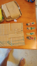Cardboard Chutes and Ladders